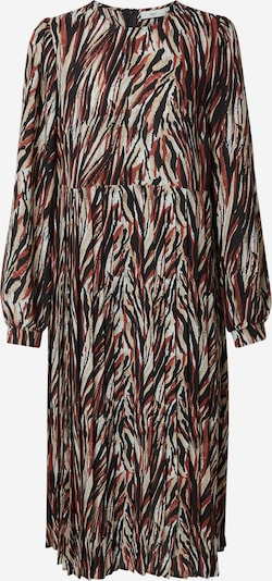 minimum Kleid 'Marseline 9058' in beige / dunkelrot / schwarz / weiß, Produktansicht
