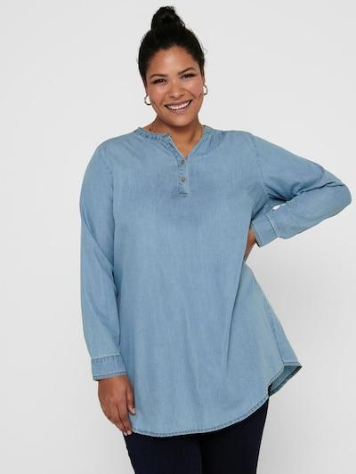 Tunica 'Danja' ONLY Carmakoma pe albastru denim, Vizualizare model