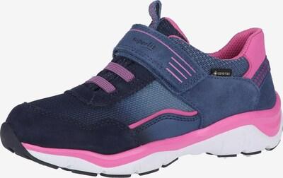SUPERFIT Sneaker in rauchblau / nachtblau / taubenblau / pink, Produktansicht