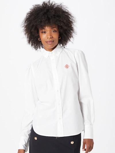 POLO RALPH LAUREN Bluse 'BRIA' in melone / offwhite, Modelansicht