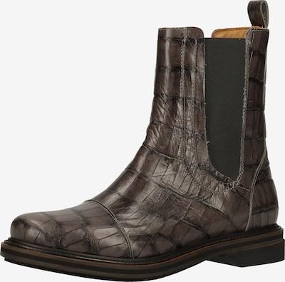 SHABBIES AMSTERDAM Chelsea Boots in dunkelbraun / schwarz, Produktansicht