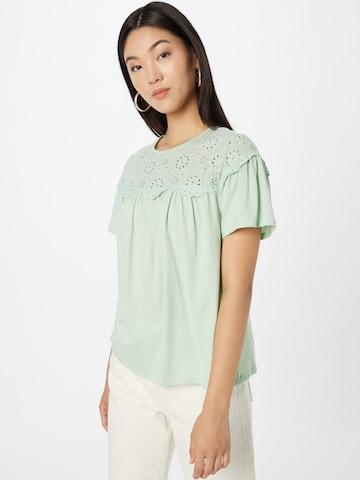 Bluză 'BRODERIE YOKE' de la NEW LOOK pe verde