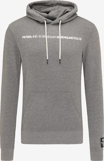 szürke melír / fehér Petrol Industries Tréning póló, Termék nézet