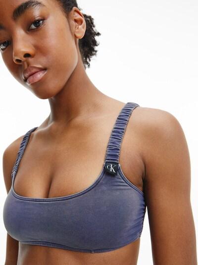 Calvin Klein Swimwear Bralette in dunkelblau / dunkellila, Modelansicht