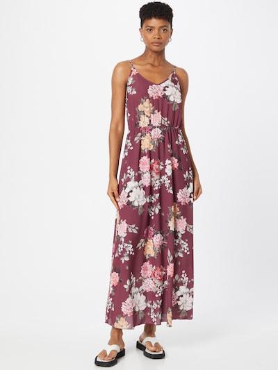 ABOUT YOU Kleid 'Shannon' in mischfarben / dunkelrot, Modelansicht