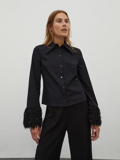 EDITED Bluse 'Dagmar' in schwarz, Modelansicht