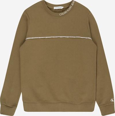 Calvin Klein Jeans Sweatshirt in de kleur Kaki / Wit, Productweergave
