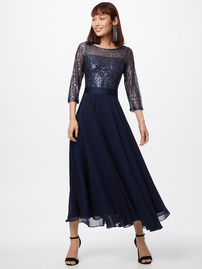 SWING Kleid in dunkelblau, Modelansicht