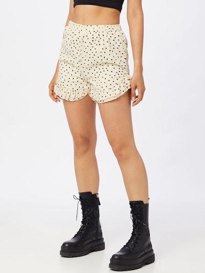 Pantaloni Missguided pe crem / negru, Vizualizare model