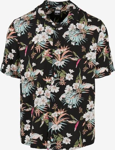 Urban Classics Big & Tall Hemd in grün / apricot / pink / schwarz / weiß, Produktansicht