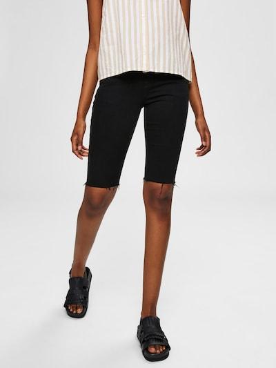 SELECTED FEMME Jeansshorts in black denim, Modelansicht
