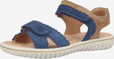 SUPERFIT Sandale in royalblau / hellbraun / schwarz, Produktansicht