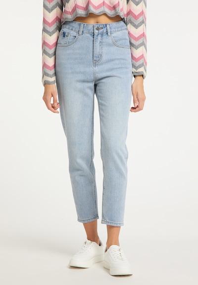 myMo NOW Jean en bleu, Vue avec modèle
