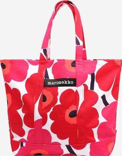 Marimekko Shopper 'PERUSKASSI PIENI UNIKKO' en rosa / rojo / negro / blanco, Vista del producto