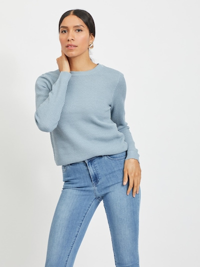 VILA Jersey 'VICHASSA' en azul claro, Vista del modelo