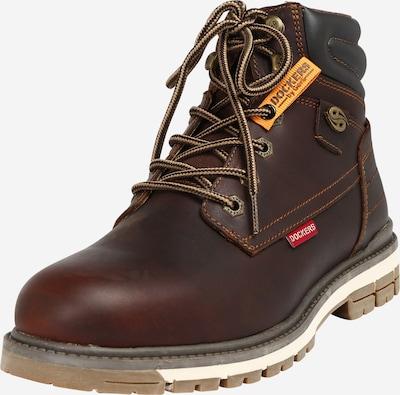 Dockers by Gerli Boots med snörning i kastanjebrun / mörkbrun, Produktvy