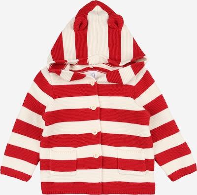 GAP Strickjacke 'GARTER' in rot / wollweiß, Produktansicht