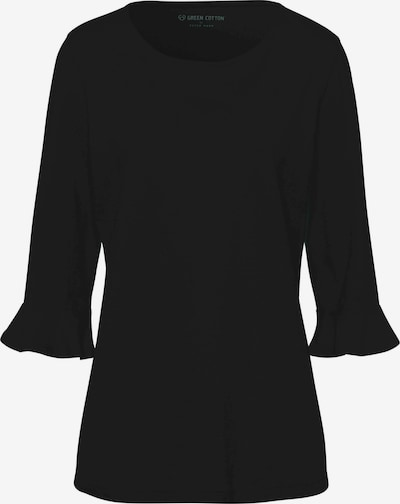 Green Cotton 3/4-Arm-Shirt in schwarz: Frontalansicht