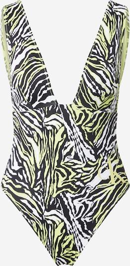 Costum de baie întreg Calvin Klein Swimwear pe bej / verde deschis / negru, Vizualizare produs
