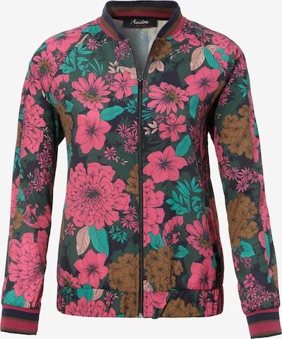 Aniston CASUAL Jacke in grün / pink / schwarz, Produktansicht