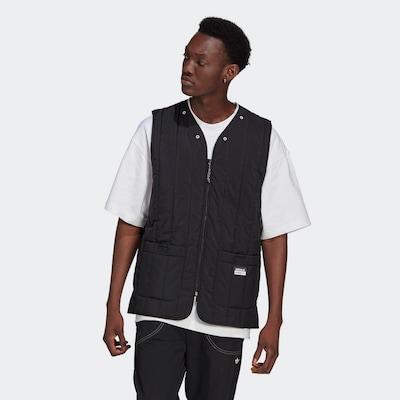 ADIDAS ORIGINALS Bodywarmer in de kleur Zwart / Wit: Vooraanzicht