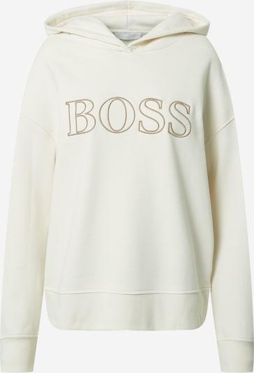 BOSS Casual Sweat-shirt 'C_Efessa' en marron / blanc, Vue avec produit