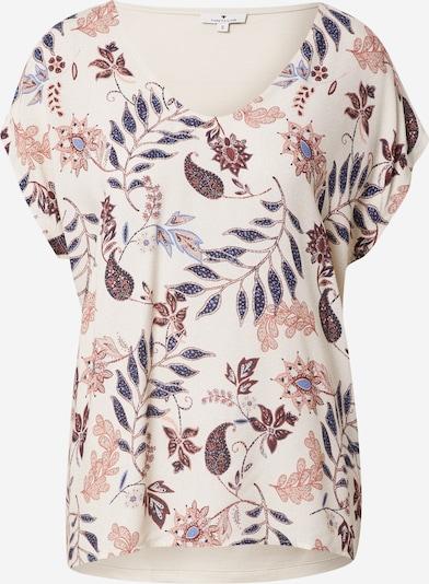 TOM TAILOR T-Shirt in creme / marine / braun, Produktansicht