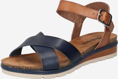 Refresh Páskové sandály - námořnická modř / světle hnědá, Produkt