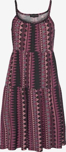 MELROSE Kleid in dunkellila / hellpink / schwarz, Produktansicht