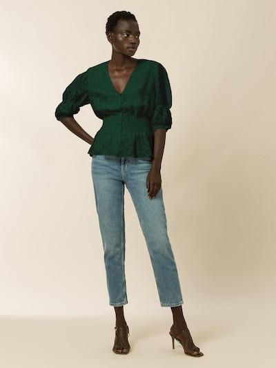 IVY & OAK Bluse in dunkelgrün, Modelansicht