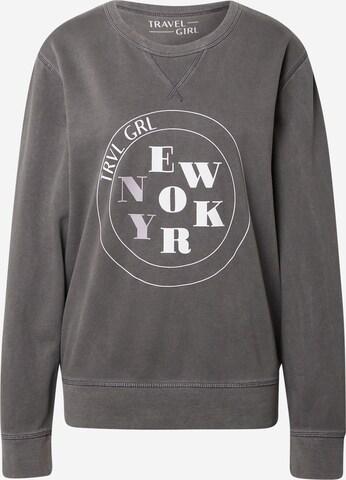 Travel Girl Tričko 'New York' - Sivá