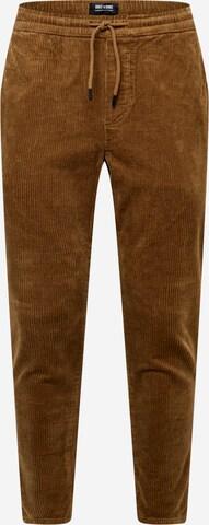 Only & Sons Püksid 'LINUS', värv pruun