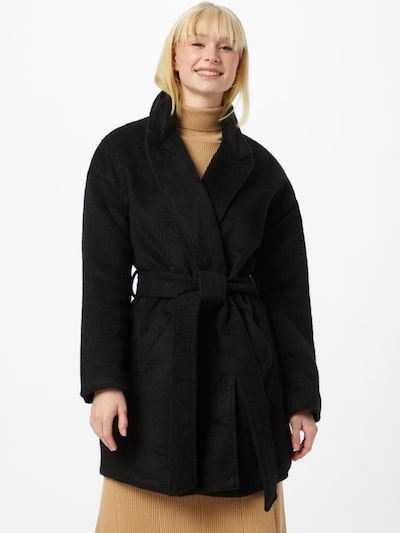 Missguided Winter coat in Black, View model