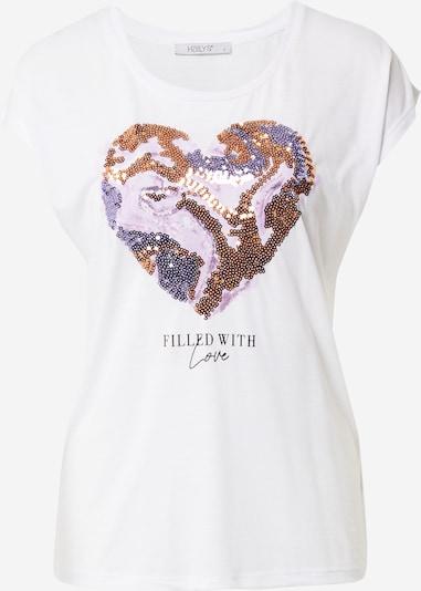 Hailys T-shirt 'Yuna' en or / lilas / noir / blanc, Vue avec produit