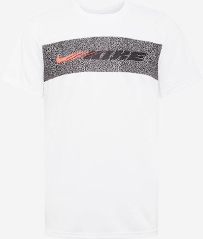 NIKE T-Shirt fonctionnel en saumon / noir / blanc, Vue avec produit