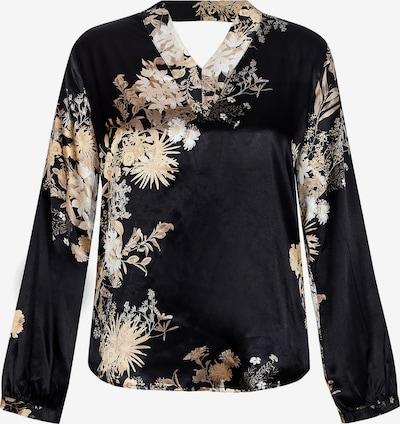 NÜ DENMARK Bluse 'Gete' in beige / schwarz / weiß, Produktansicht