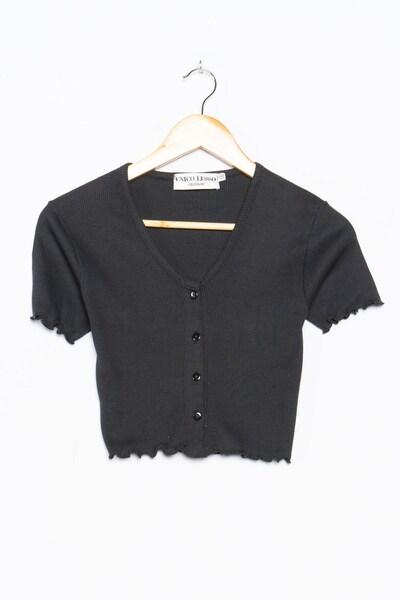 Unico Lusso Crop Top in S-M in schwarz, Produktansicht