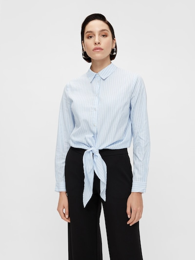 Y.A.S Bluse 'YASSTRILLA' in hellblau / weiß, Modelansicht
