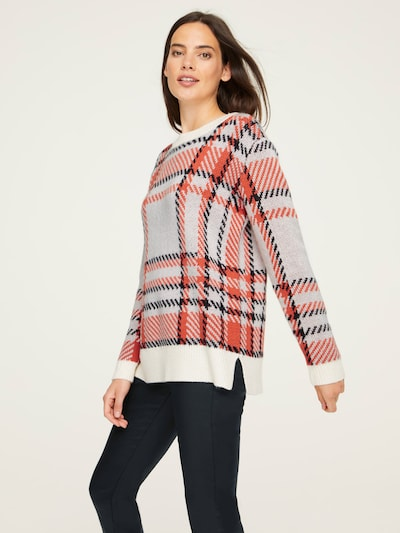 heine Pull-over en orange / noir / blanc: Vue de face