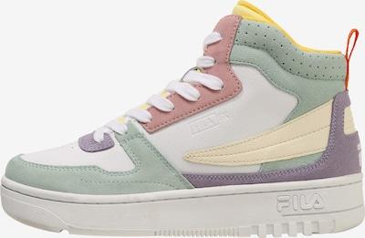 FILA Baskets hautes en jaune clair / menthe / violet / rose ancienne / blanc, Vue avec produit