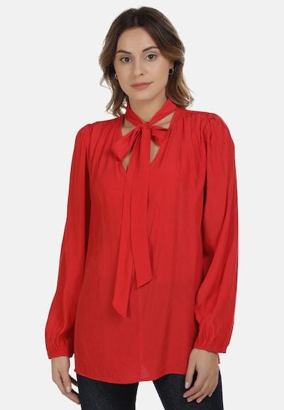 DreiMaster Maritim Bluse in hellrot, Modelansicht
