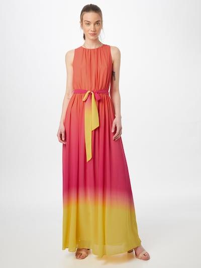 APART Společenské šaty - žlutá / pink / oranžově červená, Model/ka