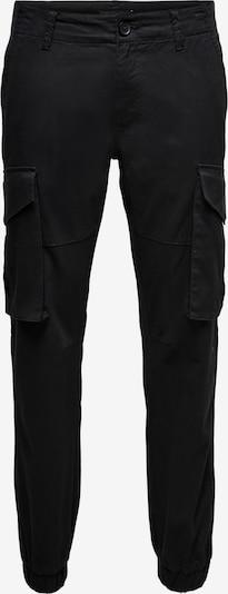 Only & Sons Pantalon cargo 'KIM' en noir, Vue avec produit