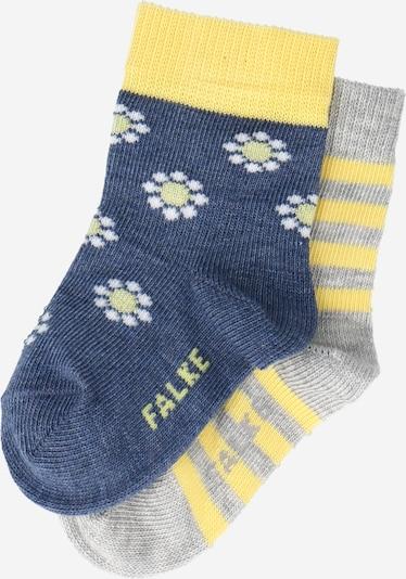 FALKE Socken 'Garden Friends' in dunkelblau / gelb / graumeliert / weiß, Produktansicht