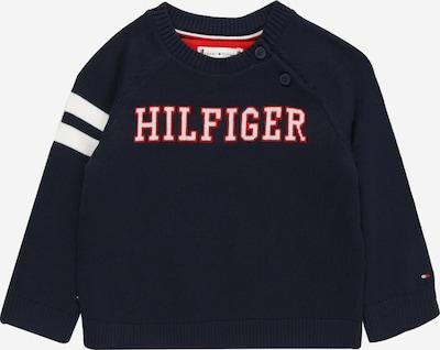 TOMMY HILFIGER Pullover in navy / rot / weiß, Produktansicht