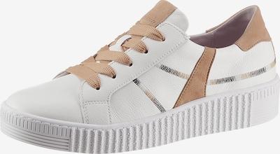 GABOR Sneaker in hellbraun / naturweiß, Produktansicht