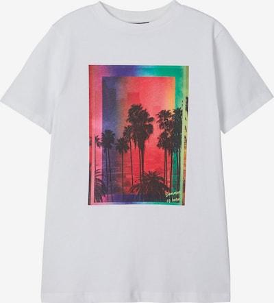 NAME IT Palmenprint T-Shirt in weiß, Produktansicht