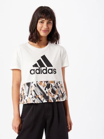 ADIDAS PERFORMANCE T-Shirt in braun / schwarz / weiß: Frontalansicht