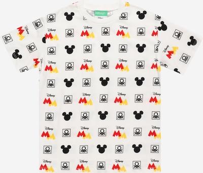 Tricou UNITED COLORS OF BENETTON pe galben / roșu / negru / alb, Vizualizare produs