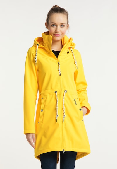 Schmuddelwedda Functionele mantel in de kleur Geel, Modelweergave